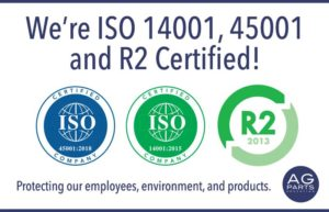 ISO and R2 certifications