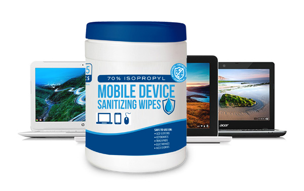Mobile Device Sanitizing Wipes